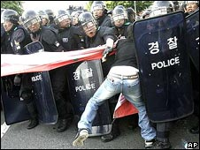 South Korea beef import protest