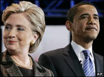 Hillary Clinton y Barack Obama