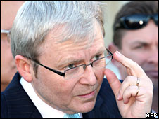 Australian PM Kevin Rudd in Sydney on 20 May 2008