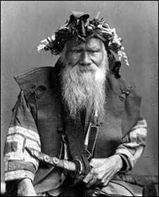 Undated image of an Ainu man (Image: the Ainu Museum)