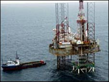 An oil rig in Nigeria