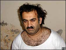 Khalid Sheikh Mohammed at time of capture in 2003