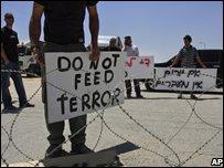 Israelis blockade goods terminal into Gaza
