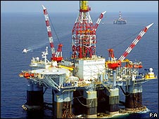 Oil rig owned by BP