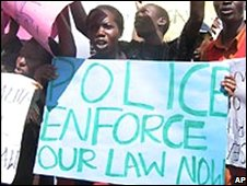 Anti-gay protest in Kampala