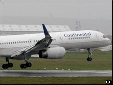 A Continental jet