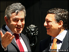 Gordon Brown and Jose Manuel Barroso