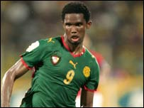 Cameroon and Barcelona's Samuel Eto'o