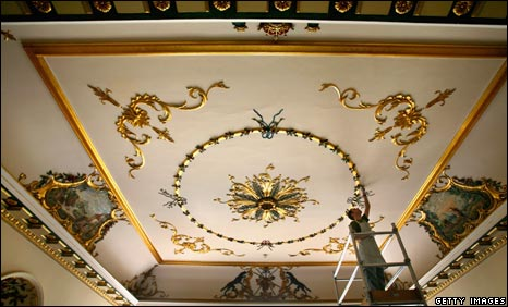 Ceiling of Dumfries house
