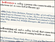 OED definition of 'hellraiser'