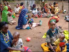 Families at Bisidimo hospital