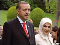 Turkish Prime Minister Recep Tayyip Erdogan and his wife Emine Erdogan , May 2008