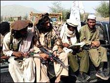Taleban in tribal area of South Waziristan
