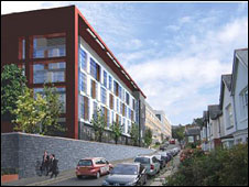 An architect's impression of the new building (picture: Hywel Dda Trust)
