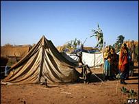 Campamento de refugiados provenientes de Darfur