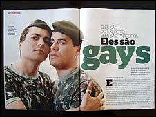 Sgt Laci Marinho de Araujo and his partner in Epoca magazine