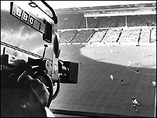 BBC camera at 1966 World Cup game