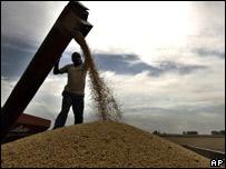 Cargamento de soja en Argentina