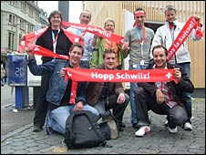 Swiss fans in Basel