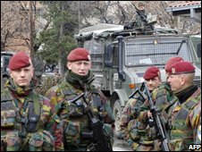 Belgian soldiers in Kosovo
