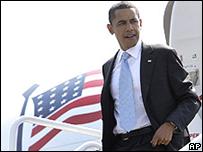Barack Obama llega a Tennessee antes de viajar a Virginia 5 de junio