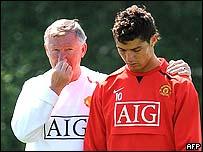 Alex Ferguson y Cristiano Ronaldo en mejores tiempos