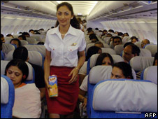 Air hostess with Kingfisher Airlines (file photo)