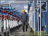 Ukrainian gas facility
