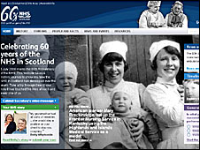 Website celebrating 60 years of the NHS