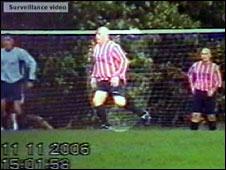 Robert Murt playing football