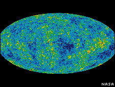 Cosmic microwave background image from NASA (via BBC)