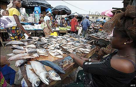 Abobo market in Abidjan