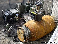 Unexploded bomb