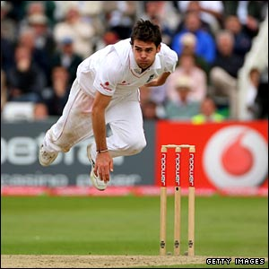 James Anderson at full pace