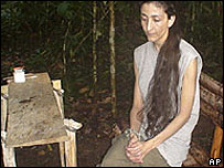 Photo of Ingrid Betancourt, from a video seized from captured Farc rebels