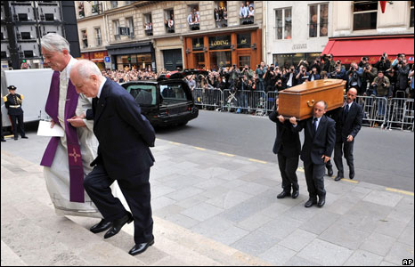 The funeral of French fashion designer Yves Saint-Laurent
