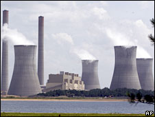 File picture from 10 July, 2007 showing the coal-fired Plant Scherer in Juliette, Georgia