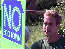 Ben Fogle at Ford eco-town protest