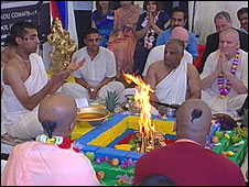 The ceremony at Krishna-Avanti school