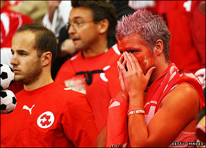 Swiss fans are left dejected