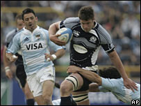 Scotland's Ally Hogg in action against Argentina