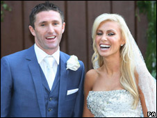 Robbie Keane and Claudine Palmer