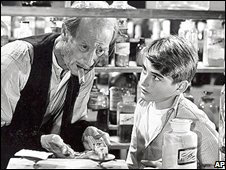 Bob Anderson (right) with HB Warner in It's A Wonderful Life
