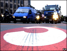 London's congestion charge zone