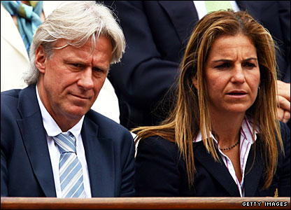 Bjorn Borg and Arantxa Sanchez Vicario