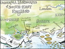 Undersea map