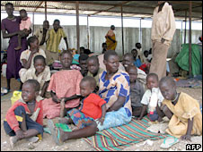Displaced Sudanese