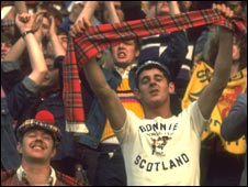 Scotland fans at the 1978 World Cup in Argentina