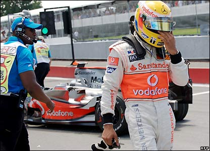 Hamilton exits the race