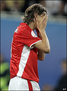 Poland's Euzebiusz Smolarek shows his frustration